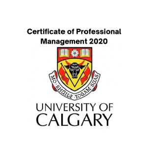 University of Calgary Certificate of Professional Management